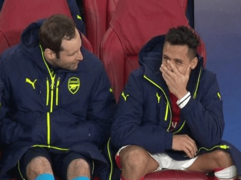 Petr Cech denies Alexis Sanchez was laughing during Arsenal's defeat to Bayern Munich