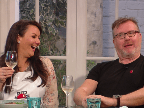 Martine McCutcheon can't handle the word 'cockles' on Saturday Kitchen