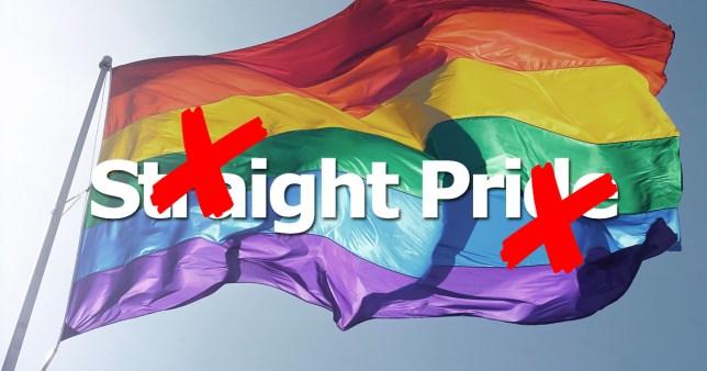 no to straight pride