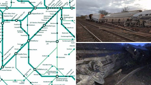 Railway line blocked for 48 hours after derailing