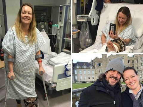 Injured wife of Westminster attack victim Kurt Cochran pictured in hospital for first time