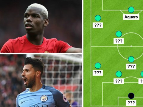 Manchester United and Manchester City combined XI, with Paul Pogba and Sergio Aguero