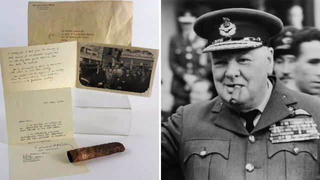 Cigar half smoked by Sir Winston Churchill goes up for auction