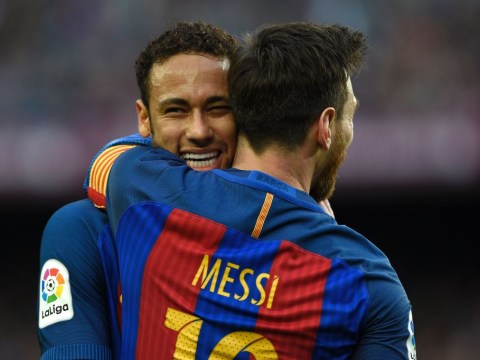 Neymar reaches 100 Barcelona goals in fewer games than Lionel Messi