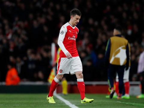 Laurent Koscielny should not be going off in big games for Arsenal, says Gary Neville