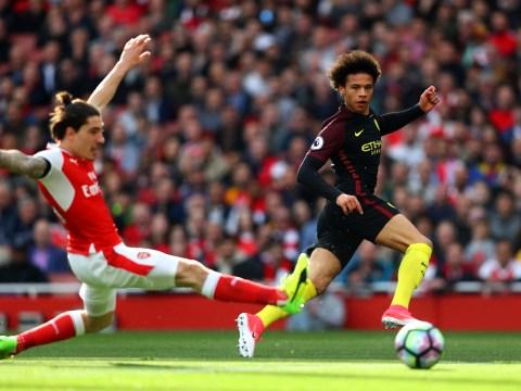 Arsenal fans rage at Hector Bellerin after full-back left for dead by Leroy Sane