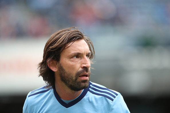 Andrea Pirlo makes zero effort to help after putting his own goalkeeper under pressure