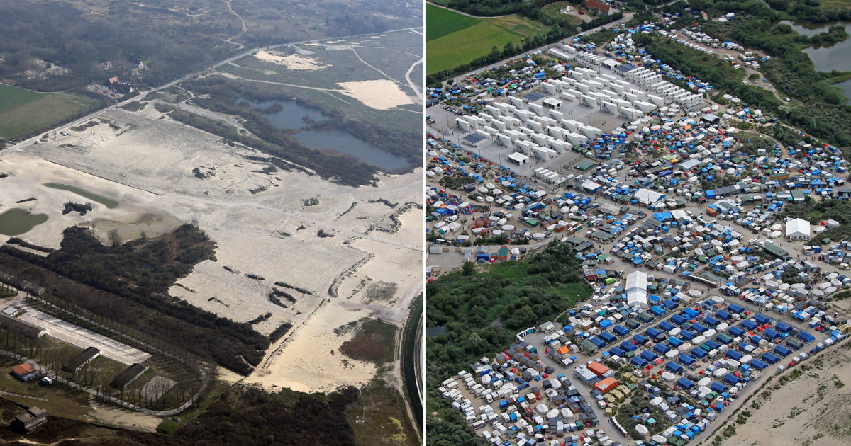 Calais Jungle resembles barren wasteland six months after last shelters cleared