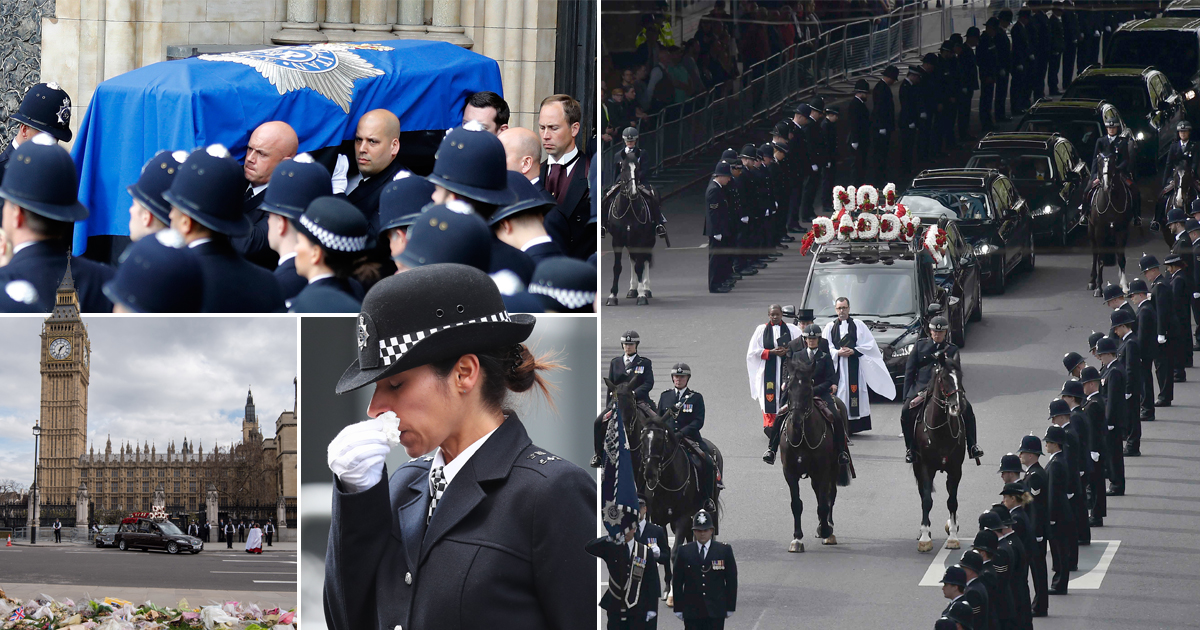 Thousands of officers line the streets for funeral of Pc Keith Palmer
