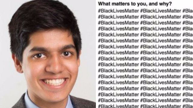 Teenager who wrote #BlackLivesMatter 100 times on application gets into one of world's best unis