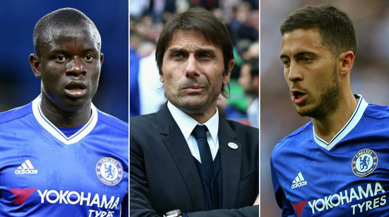 Antonio Conte praises N'Golo Kante and Eden Hazard after PFA Player of the Year vote