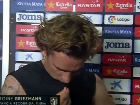 Manchester United target Antoine Griezmann walks out of interview when asked about transfer speculation
