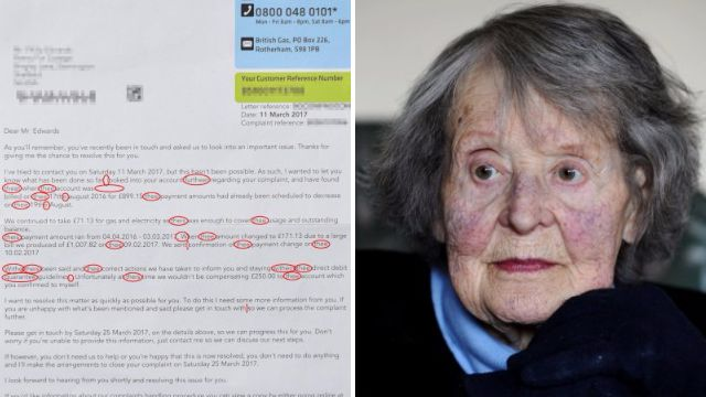 British Gas gets red pen treatment from war hero over 'gobbledygook' letter