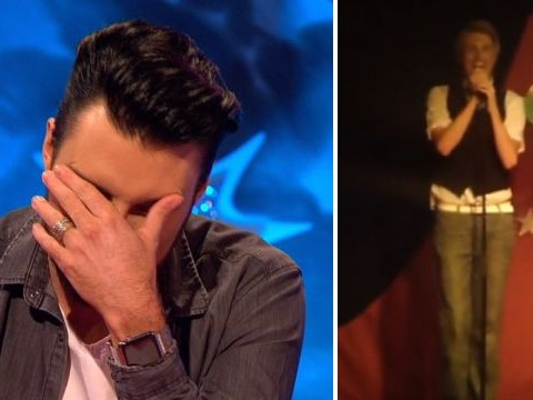 Rylan Clark-Neal cringes as he's shown throwback video singing Girls Aloud from his boyband days on Celebrity Juice