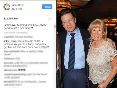 Jamie Oliver has been chided by his mum on social media proving you're never too famous for a telling off