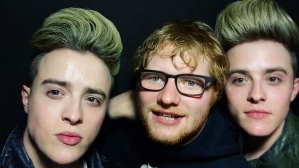 Jedward are hanging out with Ed Sheeran – is there some jepic music on the way?