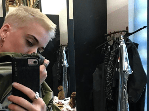 Katy Perry's edgy platinum blonde crop haircut has the 'fifth element flow'