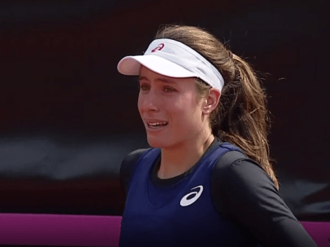 Johanna Konta left in tears and Ilie Nastase sent off court as Great Britain Fed Cup tie with Romania is suspended
