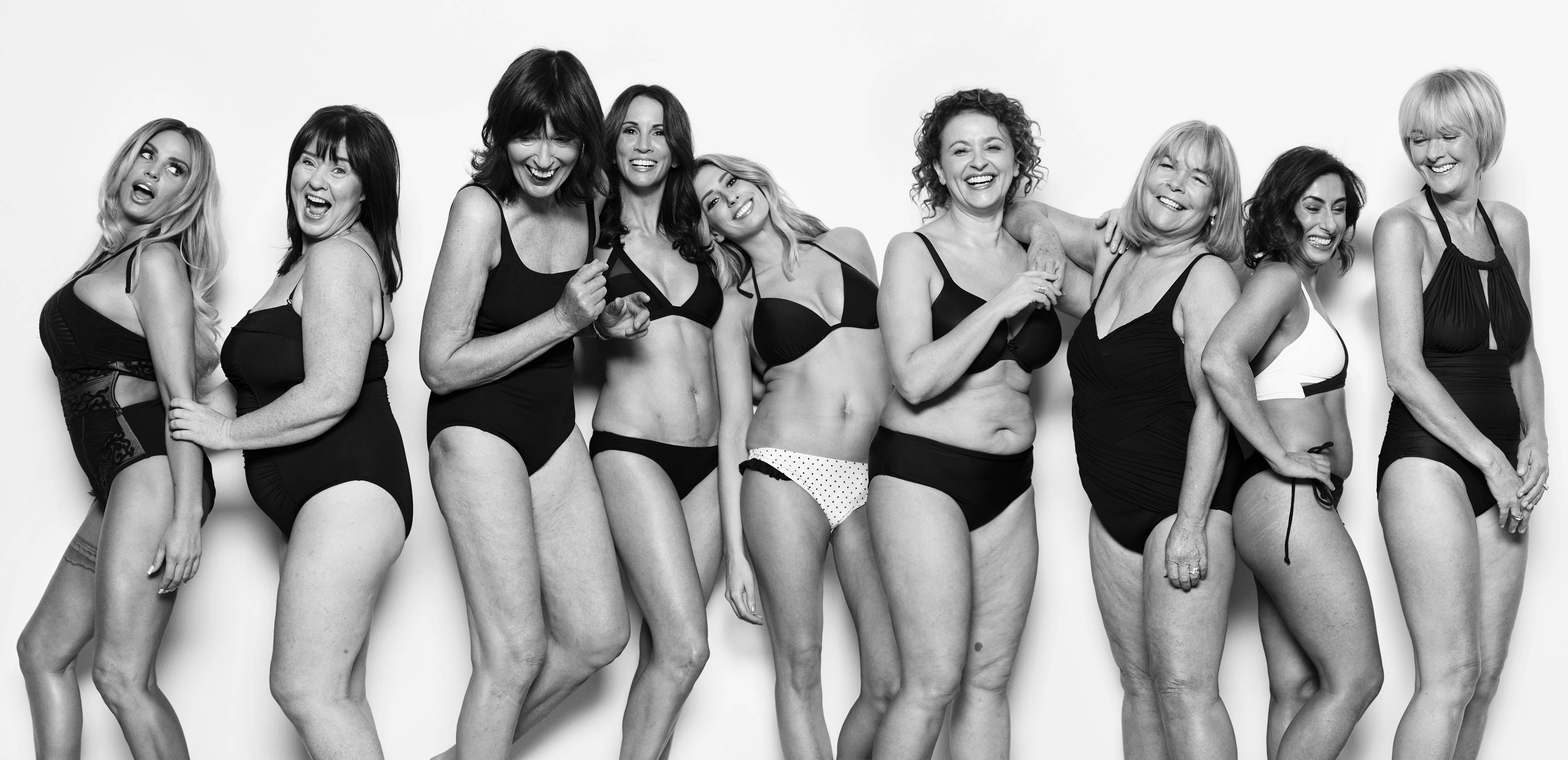 Loose Women strip to their swimwear to show off real bodies and 'stick two fingers up' at air brushing