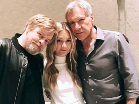 Carrie Fisher's daughter Billie Lourd grabs a lovely picture with Mark Hamill and Harrison Ford