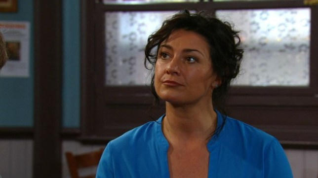 moira dingle, played by natalie j robb on emmerdale