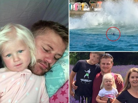 Father and girl, 2, died when freak wave swept them out to sea