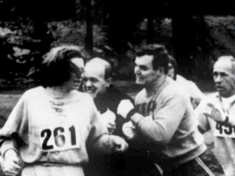 The first woman to enter the Boston Marathon is running it again today – 50 years later