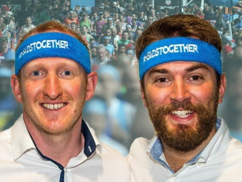 Two men who met as one was about to jump off bridge run the marathon together