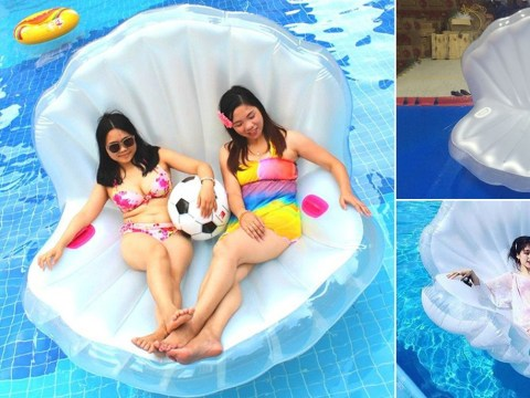 Channel your inner mermaid this summer with these amazing shell pool floats
