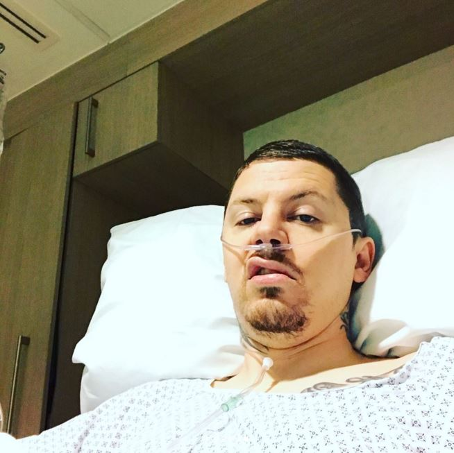 Professor Green reveals he's battling pneumonia and a collapsed lung after rare allergic reaction after hernia operation