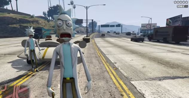 Rick And Morty meets Grand Theft Auto 5 in new mod and it's violently brilliant