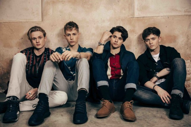 The Vamps are growing up with their emotional new single Middle Of The Night (L-R) Brad Simpson (Vocals, Guitar), James McVey (Guitar), Connor Ball (Bass) and Tristan Evans (Drums) (Picture: Supplied)
