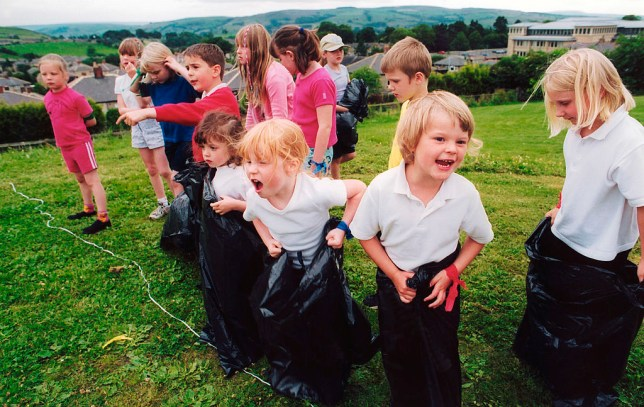 e7ed1038 Just children about to run in sacks, nothing too strange going on here,  folks (Picture: Getty Images)