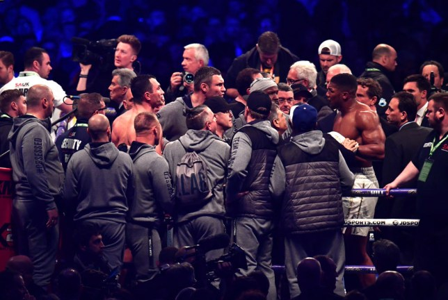Anthony Joshua and Vitali Klitschko almost came to blows