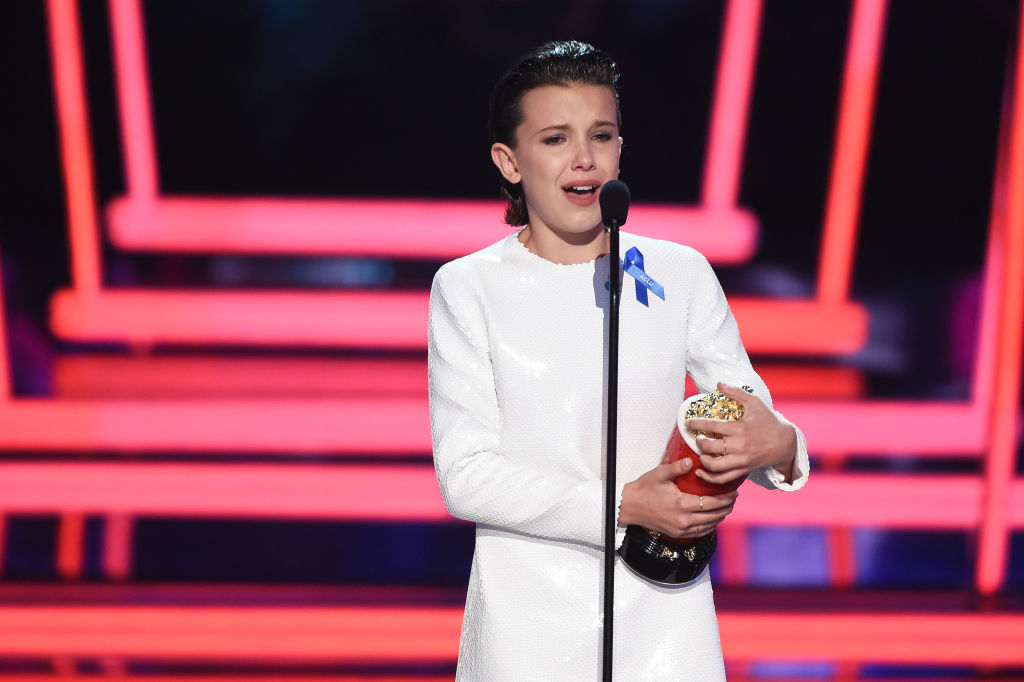 Millie Bobby Brown sobs as she wins genderless best actor gong at MTV Movie And TV Awards