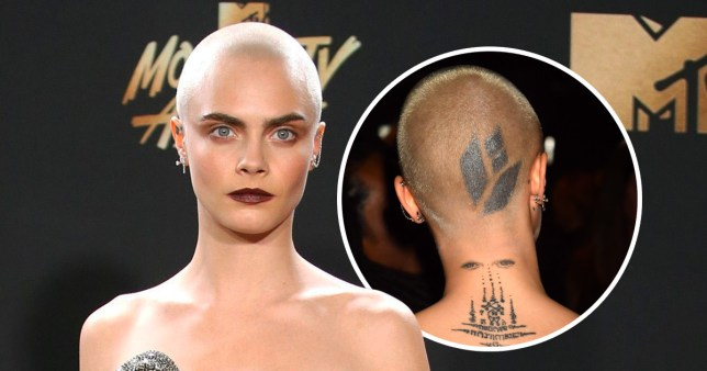 Cara Delevingne S New Head Tattoo Debuted At Mtv Movie And Tv