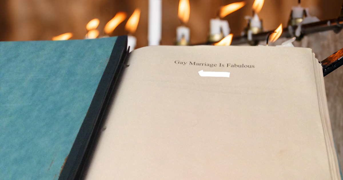 Catholic student writes 127 page essay on why 'gay marriage is fabulous'