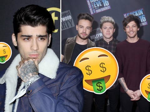 Zayn Malik is still earning less than his former 1D bandmates after leaving the band