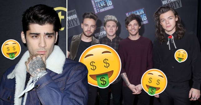 Zayn Malik's One Direction departure 'cost him £5m in missed