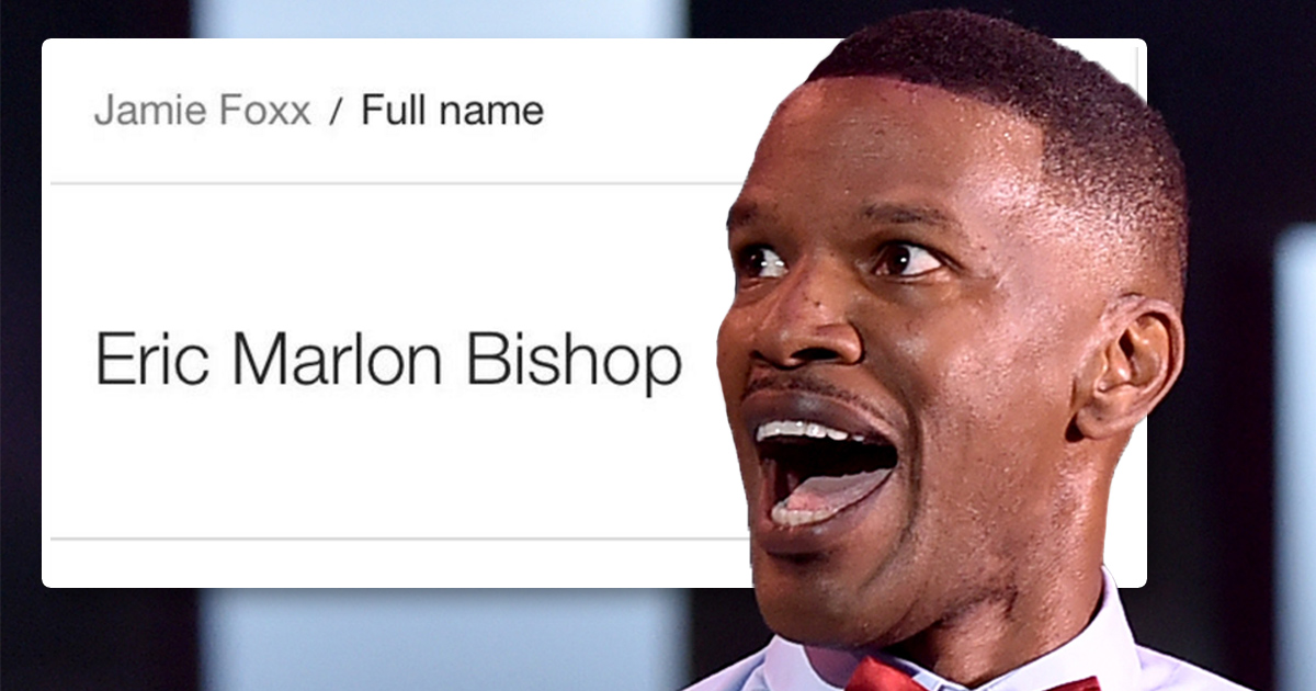 People have just discovered Jamie Foxx's real name isn't Jamie Foxx