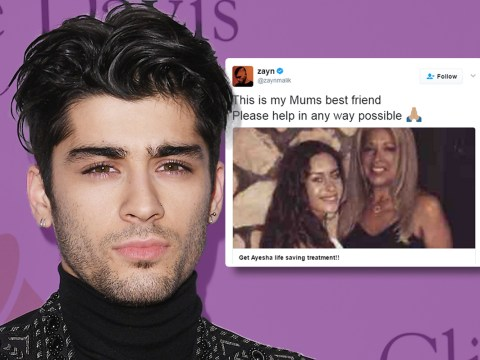 Zayn Malik's cancer-stricken 'aunt' defends his calls to help pay for her £120,000 treatment bill