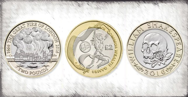 2 coins ranked from most to least valuable in circulation