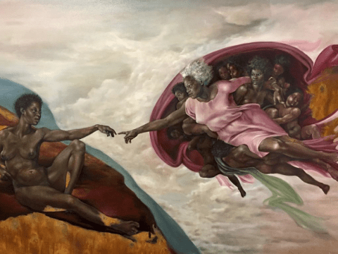 White men are being replaced in classical paintings with black women
