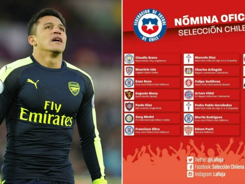 Alexis Sanchez accidentally listed as Bayern Munich player by Chile amid transfer speculation