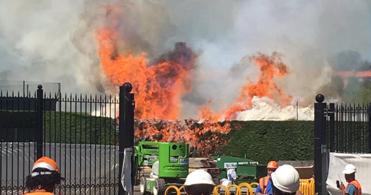 Blaze breaks out at Wimbledon's tennis courts