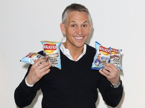 Gary Lineker does not shag crisps, despite what Glastonbury sign claimed