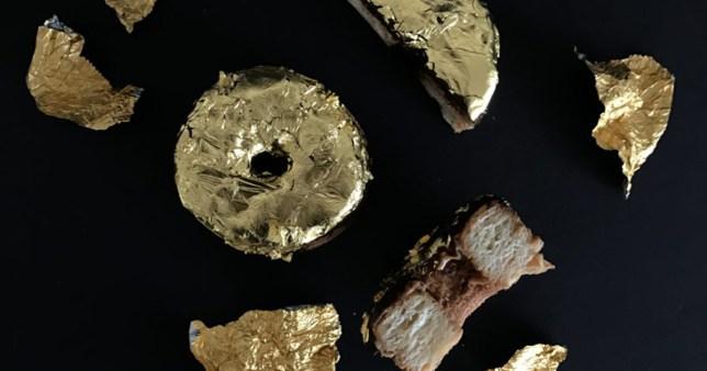 24-carat gold doughnut