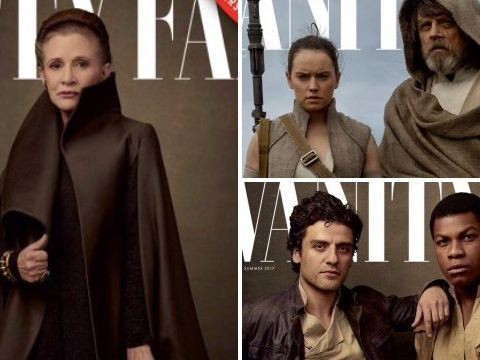 Carrie Fisher stars in this magnificent Star Wars: The Last Jedi photo shoot
