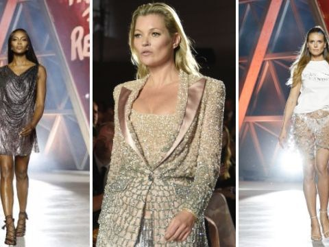 Bella Hadid, Jourdan Dunn and Kendall Jenner join legendary supermodels Kate Moss and Naomi Campbell on the runway