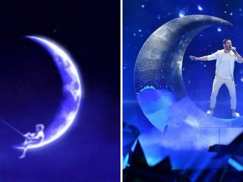 Everyone's convinced Austria's Eurovision entry is the Dreamworks kid in the moon all grown up